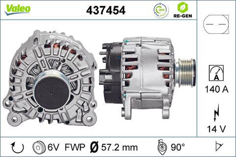 Alternátor VALEO REMANUFACTURED PREMIUM - 14V, 6,99kg