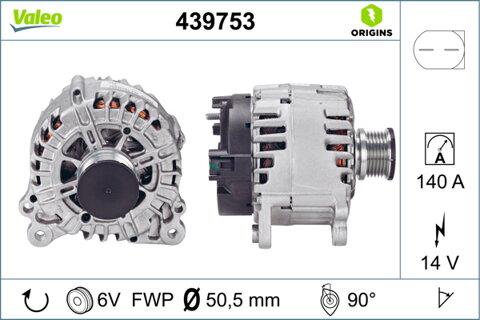 Alternátor VALEO NEW ORIGINAL PART - 14V, 7,61kg
