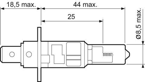 Žiarovky H1 VALEO ESSENTIAL  - H1, 12V, 55W, P14,5s