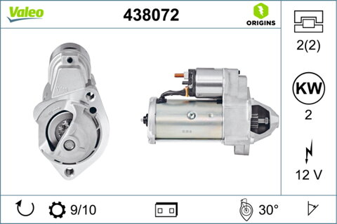 štartér VALEO NEW ORIGINAL PART - 12V, 3,94kg
