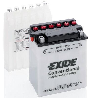 Motobatérie PDM EXIDE  - 12V, 14Ah, 134mm, 130A
