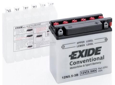 Motobatérie PDM EXIDE  - 12V, 5,5Ah, 135mm, 45A