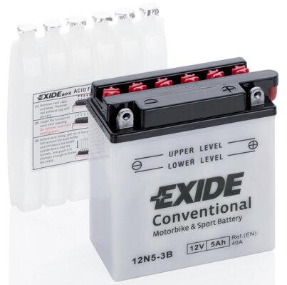Motobatérie PDM EXIDE  - 12V, 5Ah, 120mm, 40A