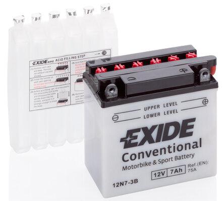 Motobatérie PDM EXIDE  - 12V, 7Ah, 75A, 135mm