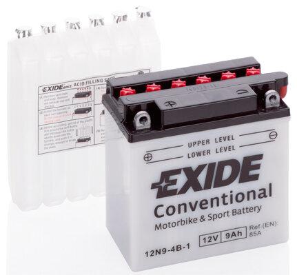 Motobatérie PDM EXIDE  - 12V, 9Ah, 135mm, 85A