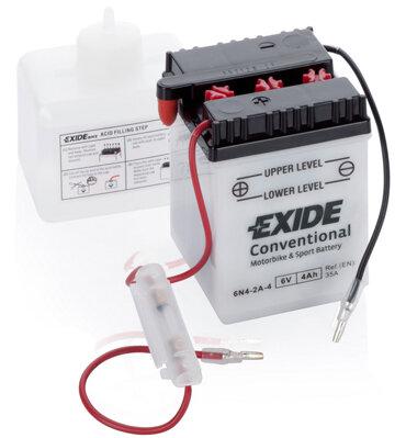 Motobatérie PDM EXIDE  - 6V, 4Ah, 70mm, 35A