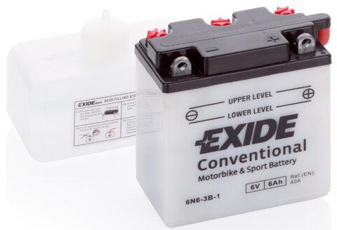 Motobatérie PDM EXIDE  - 6V, 6Ah, 98mm, 40A