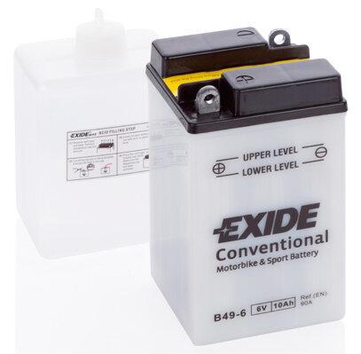 Motobatérie PDM EXIDE  - 6V, 10Ah, 90mm, 90A