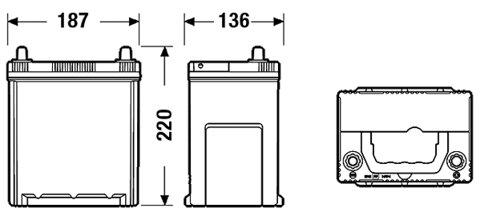 štartovacia batéria EXIDE PREMIUM - 12V, 38Ah, 300A, 187mm