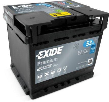 štartovacia batéria EXIDE PREMIUM - 12V, 53Ah, 540A, 207mm