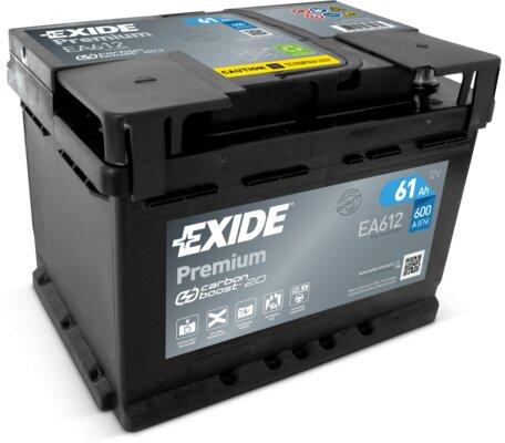 štartovacia batéria EXIDE PREMIUM - 12V, 60Ah, 600A, 242mm