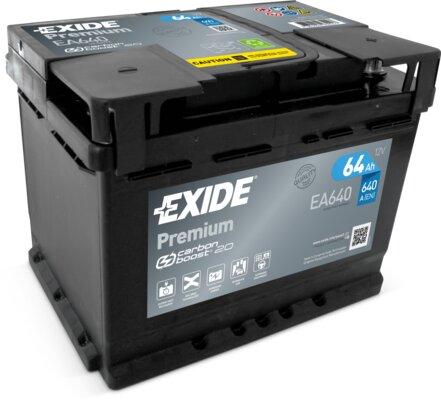 štartovacia batéria EXIDE PREMIUM - 12V, 64Ah, 640A, 242mm