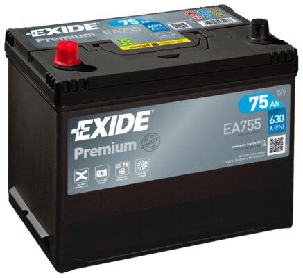 štartovacia batéria EXIDE PREMIUM - 12V, 75Ah, 630A, 270mm