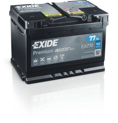 štartovacia batéria EXIDE PREMIUM - 12V, 77Ah, 760A, 278mm