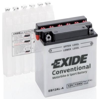 Motobatérie PDM EXIDE  - 12Ah, 12V, 133,9mm, 165A