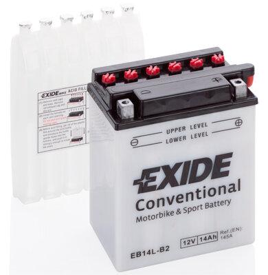 Motobatérie PDM EXIDE  - 12V, 14Ah, 134mm, 145A