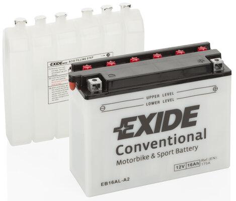 Motobatérie PDM EXIDE  - 12V, 16Ah, 205mm, 175A