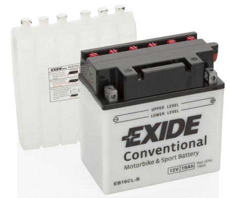 Motobatérie PDM EXIDE  - 12V, 19Ah, 175mm, 190A