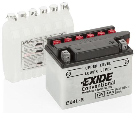 Motobatérie PDM EXIDE  - 12V, 4Ah, 120mm, 50A