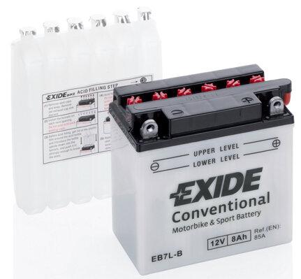 Motobatérie PDM EXIDE  - 12V, 8Ah, 135mm, 85A
