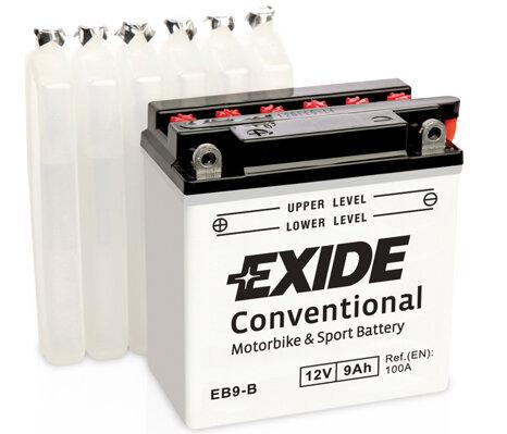 Motobatérie PDM EXIDE  - 12V, 9Ah, 135mm, 100A
