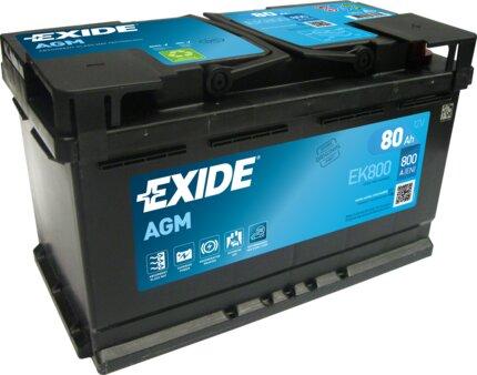 štartovacia batéria EXIDE AGM - 12V, 80Ah, 315mm, 800A
