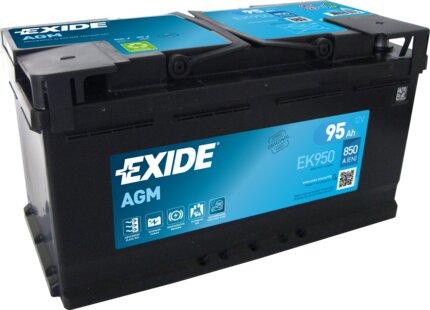 štartovacia batéria EXIDE MICRO-HYBRID AGM - 12V, 92Ah, 353mm, 850A