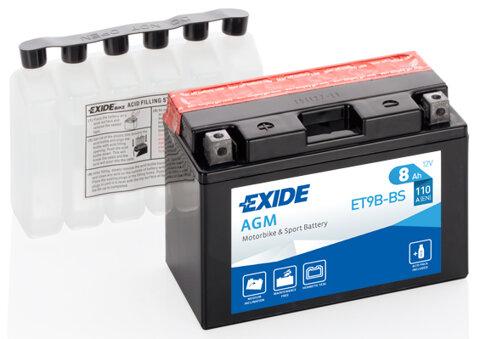 Motobatérie PDM EXIDE  - 12V, 8Ah, 150mm, 110A