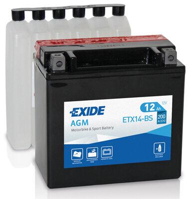 Motobatérie PDM EXIDE  - 12V, 12Ah, 150mm, 200A