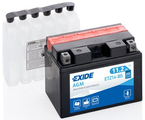 Motobatérie PDM EXIDE  - 12V, 11,2Ah, 150mm, 205A