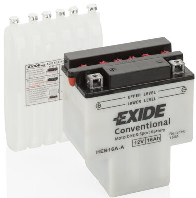 Motobatérie PDM EXIDE  - 12V, 16Ah, 160mm, 175A