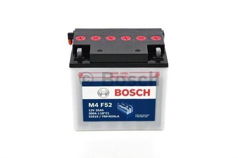 štartovacia batéria BOSCH M4 Fresh Pack -  - 12V, 25Ah, 300A, 186mm