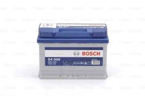 štartovacia batéria BOSCH S4 - 12V, 74Ah, 680A, 278mm