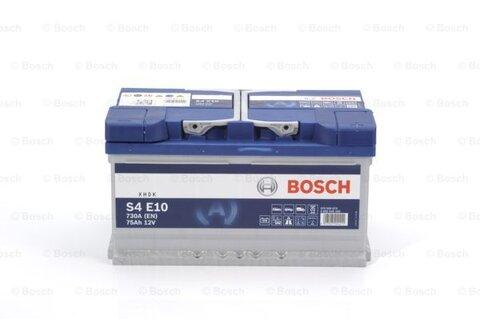 štartovacia batéria BOSCH S4E - 12V, 75Ah, 730A, 315mm