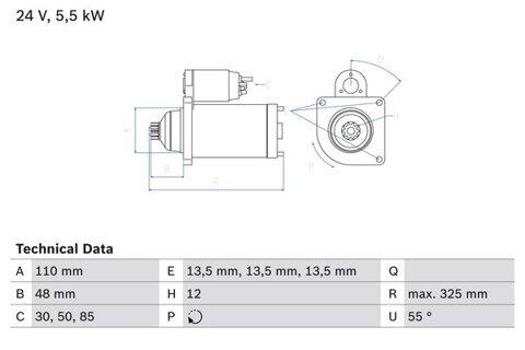 štartér BOSCH - 325mm