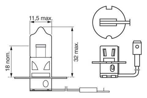 Žiarovky H3 BOSCH  - 12V, 55W, H3, PK22s