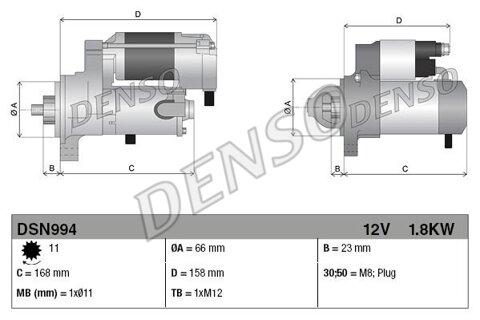 štartér DENSO - 12V