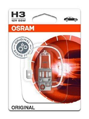 Žiarovky H3 OSRAM ORIGINAL  - H3, 12V, 55W, PK22s