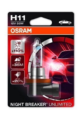 Žiarovky H11 OSRAM NIGHT BREAKER UNLIMITED  - H11, 12V, 55W, PGJ19-2