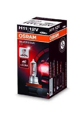 Žiarovky H11 OSRAM SILVERSTAR 2.0  - H11, 12V, 55W, PGJ19-2