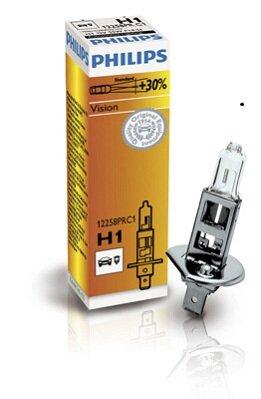 Žiarovky H1 PHILIPS Vision  - H1, 12V, 55W, P14,5s