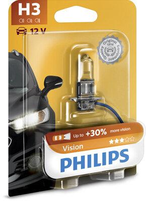 Žiarovky H3 PHILIPS Vision  - H3, 12V, 55W, PK22s