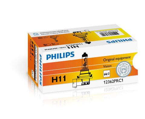 Žiarovky H11 PHILIPS Vision  - H11, 12V, 55W, PGJ19-2