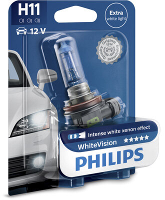 Žiarovky H11 PHILIPS WhiteVision  - H11, 12V, 55W, PGJ19-2