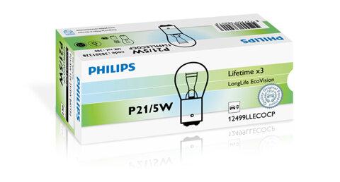 Žiarovky P21/5W PHILIPS LongLife EcoVision  - P21/5W, 12V, 21/5W, BAY15d