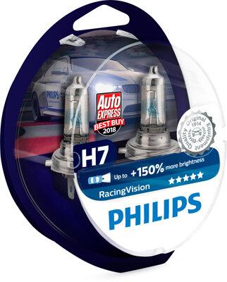 PHILIPS RacingVision RACING VISION 12V H7 55W + 150% - 2 ks