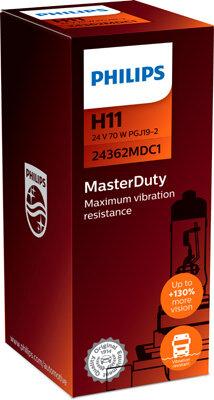 Žiarovky H11 PHILIPS MasterDuty  - H11, 24V, 70W, PGJ19-2