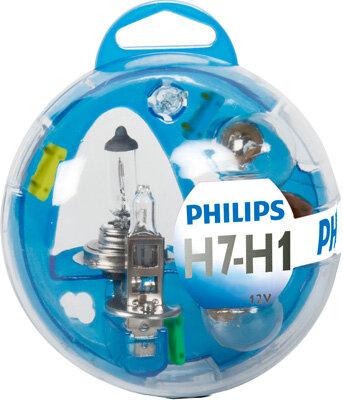 Sady žiaroviek PHILIPS Essential Box  - H1/H7, 12V