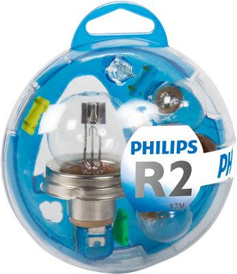Sady žiaroviek PHILIPS Essential Box  - R2 (Bilux), 12V