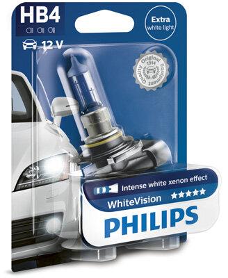Žiarovky HB4 PHILIPS WhiteVision  - HB4, 12V, 51W, P22d